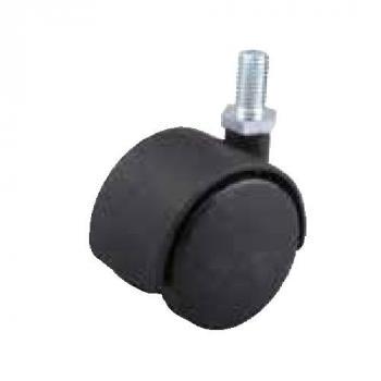 Fotelgörgő 50mm fekete + csap 8x15mm 40kg teherbírás