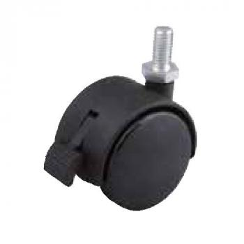 Fotelgörgő 50mm fekete + csap 8x15mm fékes 40kg teherbírás