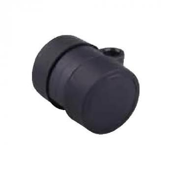 Görgő 37mm fekete gumis (talp nélküll)