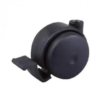 Görgő 45mm fekete fékkel (talp nélkül)