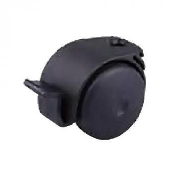 Görgő 50mm fekete fékkel (talp nélkül)