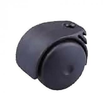 Görgő 50mm fekete (talp nélkül)